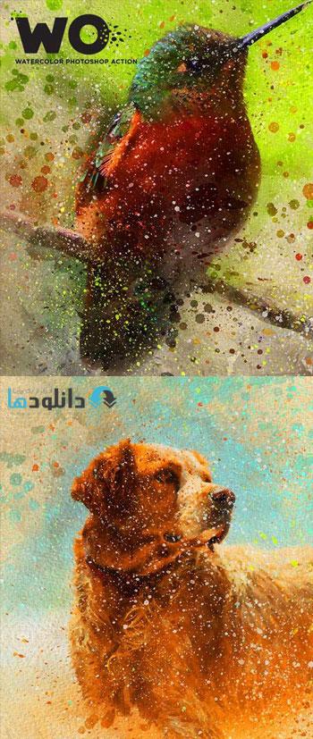 اکشن-فتوشاپ-wo-watercolor-photoshop-action
