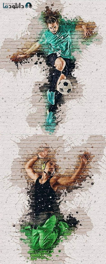 دانلود اکشن فتوشاپ Wall Decor Photoshop Action
