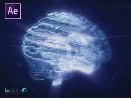 پروژه-افتر-افکت-digital-ai-brain-logo-reveal