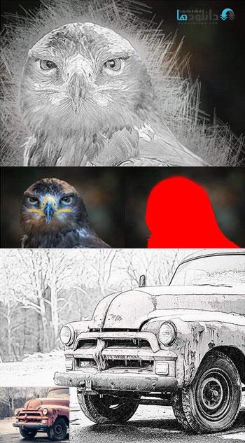 استایل-فتوشاپ-drawing-effect-photoshop-action