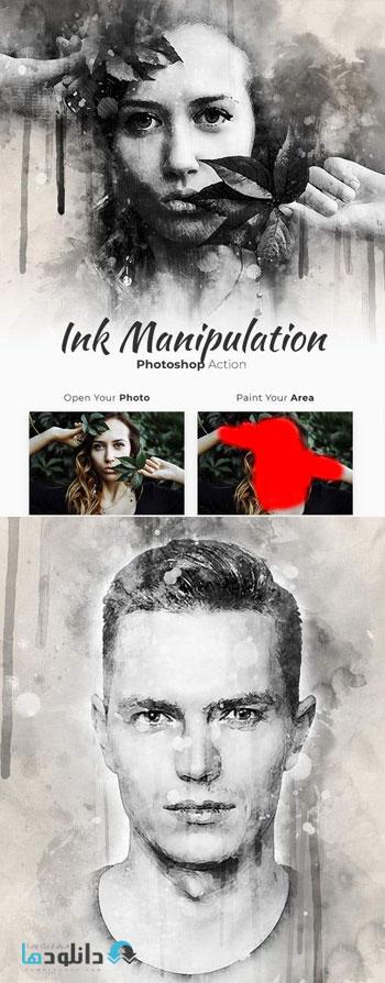 اکشن-فتوشاپ-ink-manipulation-photoshop-action