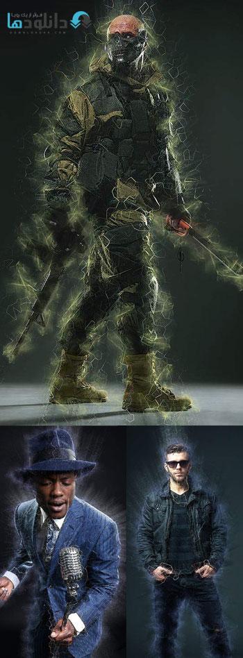 اکشن-فتوشاپ-radiation-photoshop-action