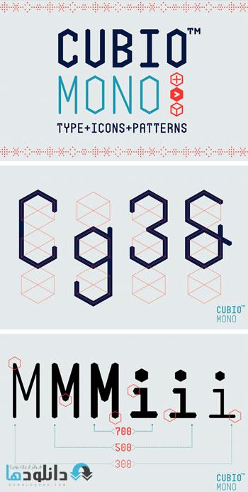 فونت-انگلیسی-cubio-mono-font-family
