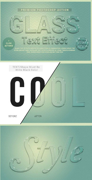 استایل-فتوشاپ-glass-text-effect-for-photoshop