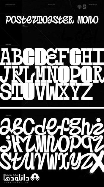 فونت-انگلیسی-postertoaster-font