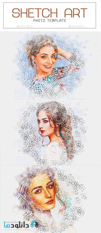 اکشن-فتوشاپ-sketch-art-photo-photoshop-action