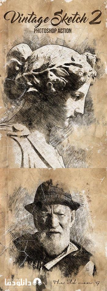 اکشن-فتوشاپ-vintage-sketch-2-photoshop-action
