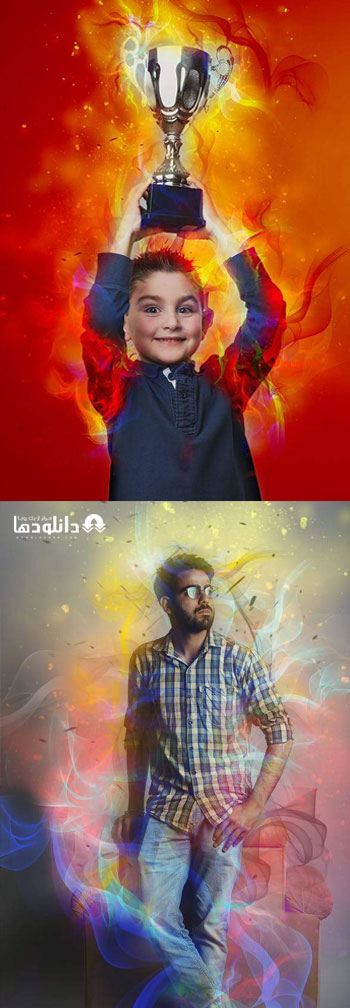 اکشن-فتوشاپ-magic-smoke-photoshop-action