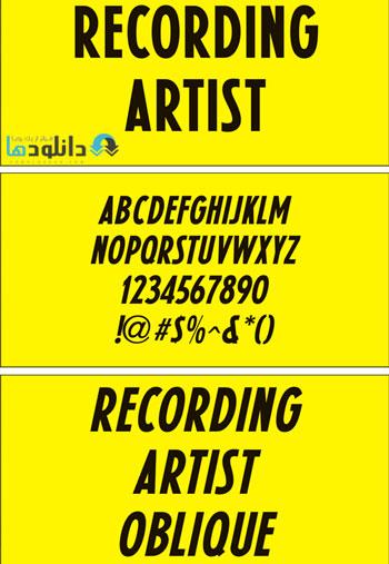 فونت-انگلیسی-recording-artist-jnl-font
