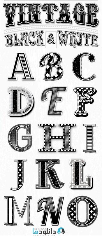 استایل-فتوشاپ-vintage-black-and-white-styles