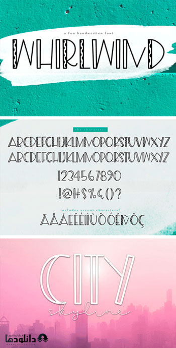 فونت-انگلیسی-whirlwind-a-fun-handwritten-font