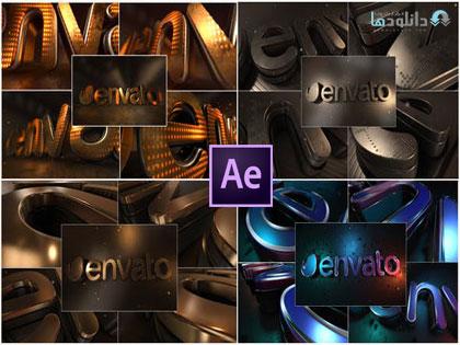 پروژ-نمایش-لوگو-LED-Gold-Title-Ae-Project