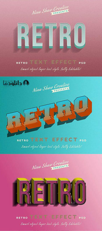 استایل-فتوشاپ-Retro-Vintage-Text-Effects
