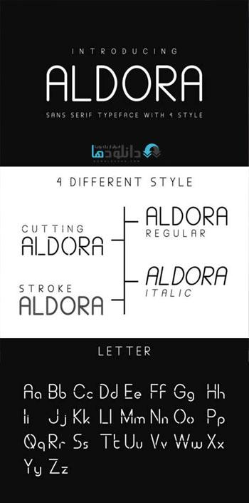 فونت-انگلیسی-aaldora-font