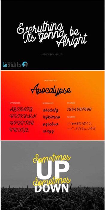 فونت-انگلیسی-apocalypse-font
