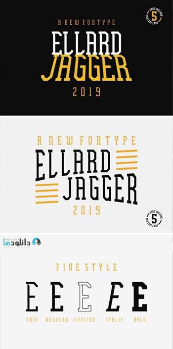 فونت-انگلیسی-ellard-jagger-font