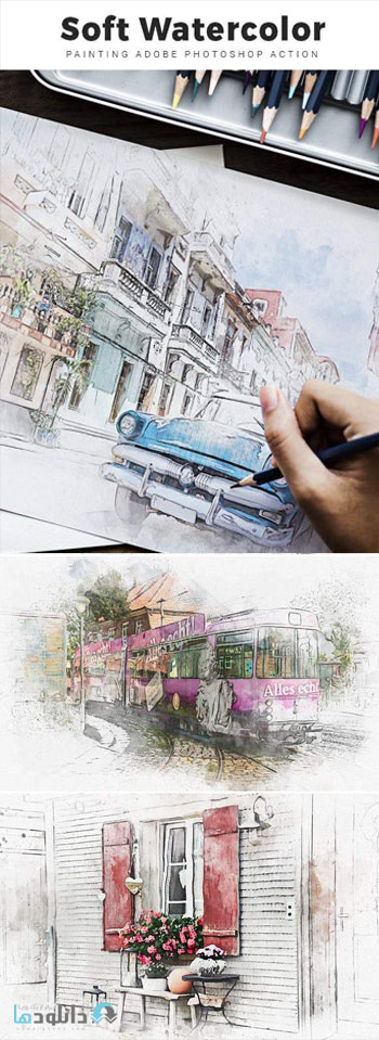 اکشن-فتوشاپ-soft-watercolor-painting-photoshop-action