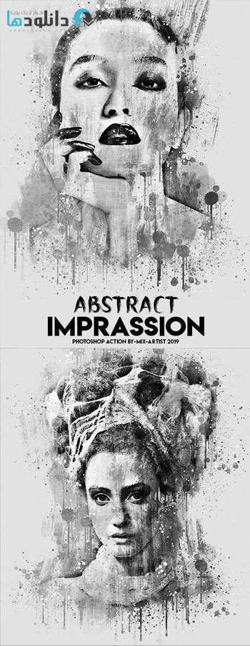 اکشن-فتوشاپ-Abstract-Imprassion-Ink-Photoshop-Action