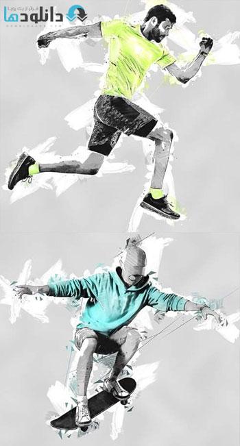 اکشن-فتوشاپ-Color-Sketch-Photoshop-Action
