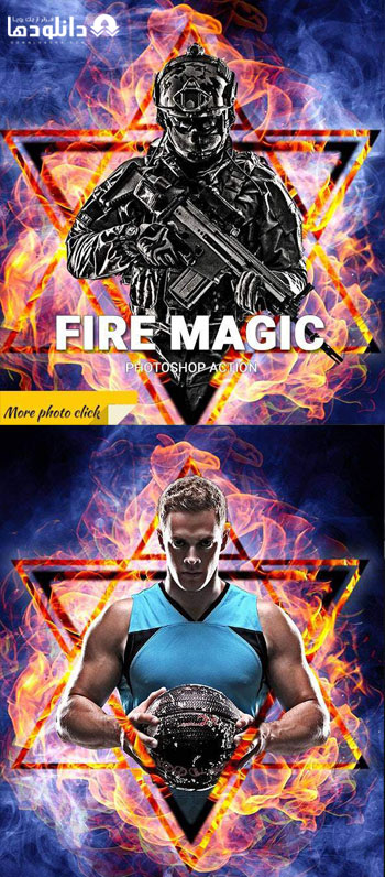 اکشن-فتوشاپ-fire-magic-photoshop-action