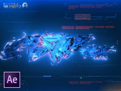 پروژه-افتر-افکت-cyberpunk-logo-reveal