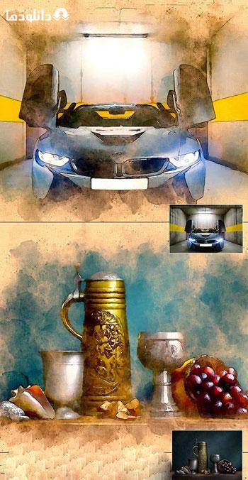 اکشن-فتوشاپ-urban-watercolor-Ps-action