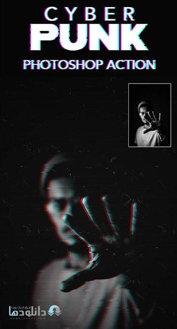 اکشن-فتوشاپ-CyberPunk-Effect-Photoshop